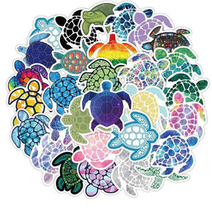 lot de 41 stickers tortue