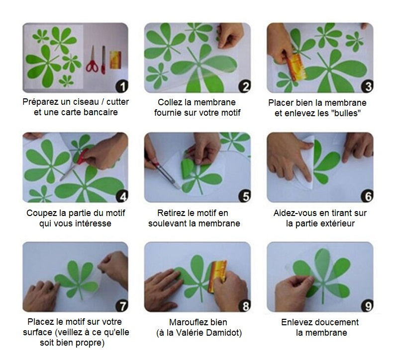 sticker tortue instructions