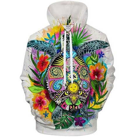 sweat tortue art coloré