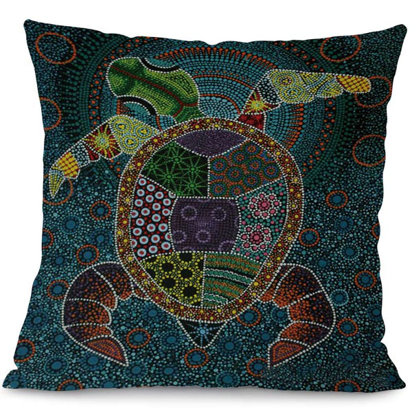 Housse Coussin Tortue - Indien
