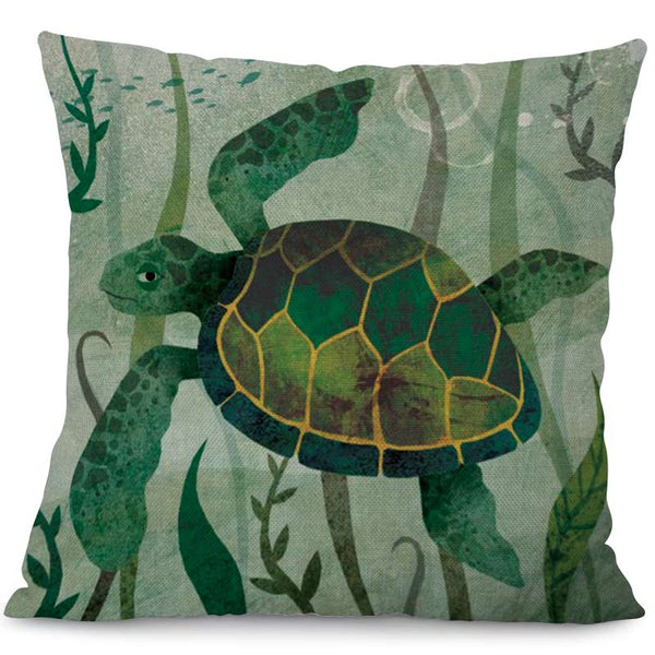 Housse Coussin Tortue - Kawaii