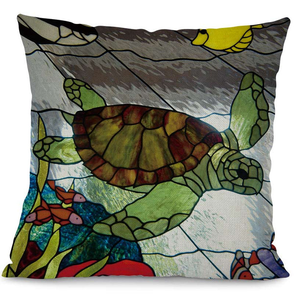 Housse Coussin Tortue - Dessin