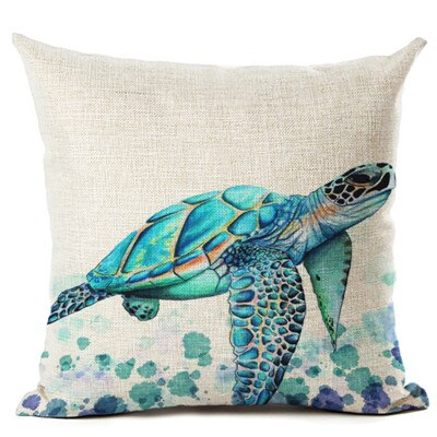 Housse Coussin Tortue - Caraïbes