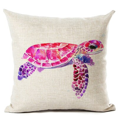 Housse Coussin Tortue - Rose