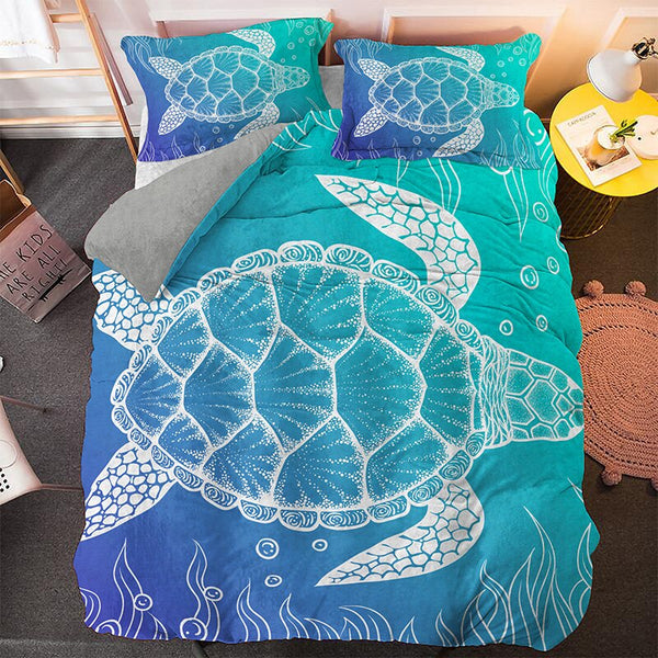 Parure de Lit Tortue 3PCS - Immersion