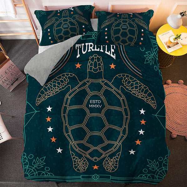 Parure de Lit Tortue 3PCS - Turtle Star