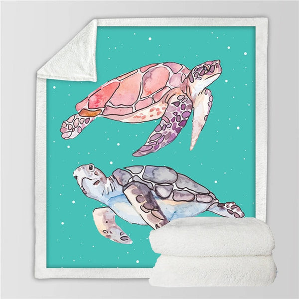 Plaid Tortue - Turquoise