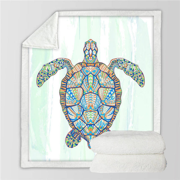 Plaid Tortue - Impressionniste