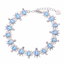 Bracelet Tortue - TurtleParty (Argent)