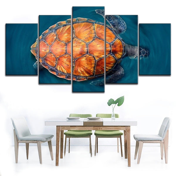 Tableau Tortue - Carapace Orange