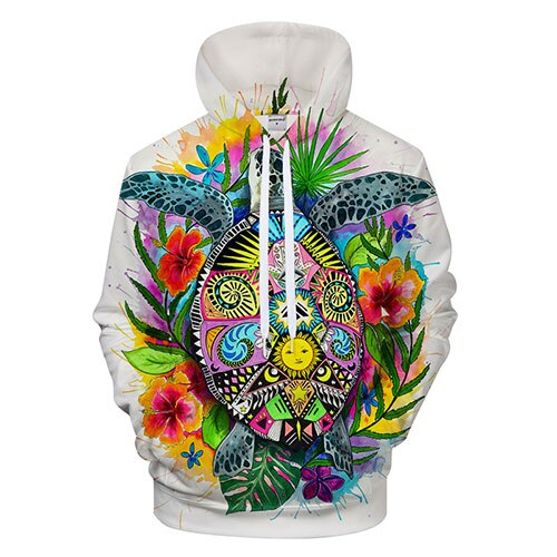Sweat fleuri tortue