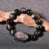 Bracelet Tortue Dragon (Obsidienne)