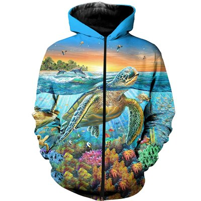 Sweat Océan Tortue