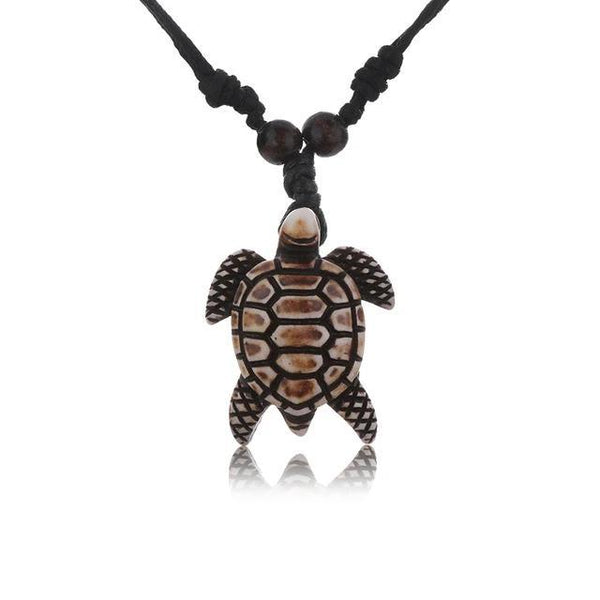 Collier Tortue Bois - Hawaïen