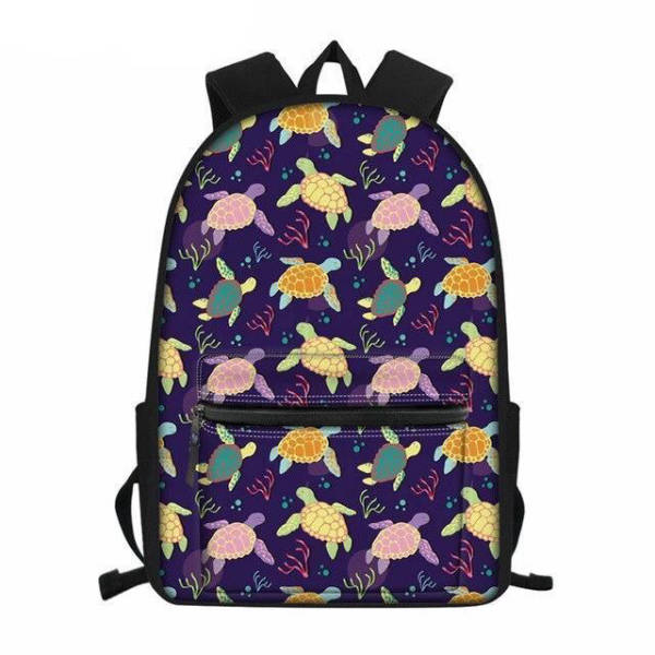 Sac a Dos Tortue Multicolore | Tortue Paradise