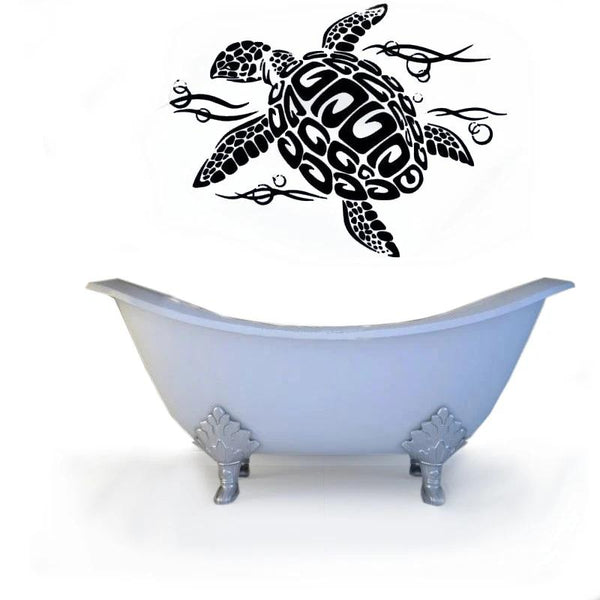 Sticker Tortue - Vagues