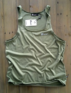 Dante Unique Tank Top Green Olive