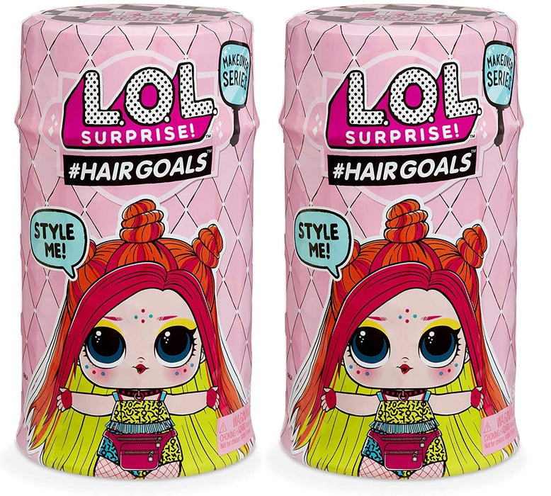 LOL L.O.L SURPRISE HAIRGOALS MAKEOVER SERIES 1 WAVE 2 WITH 15 SURPRISES - PACK OF 2