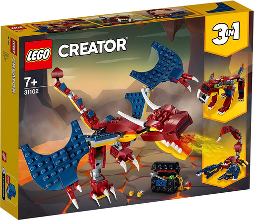 LEGO 31102 CREATOR 3 IN 1 SCORPION, TIGER & FIRE DRAGON
