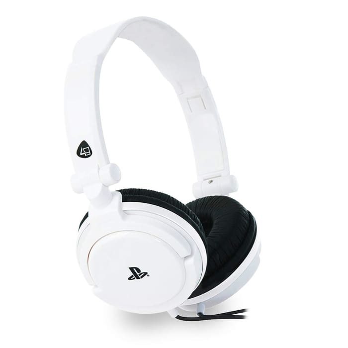 4GAMERS PRO4-10 STEREO GAMING HEADSET FOR PS4 - WHITE