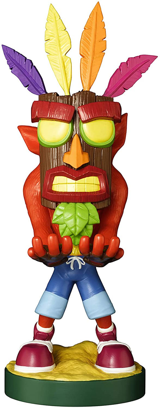 CRASH BANDICOOK AKU AKU CABLE GUY MOBILE PHONE & CONTROLLER HOLDER