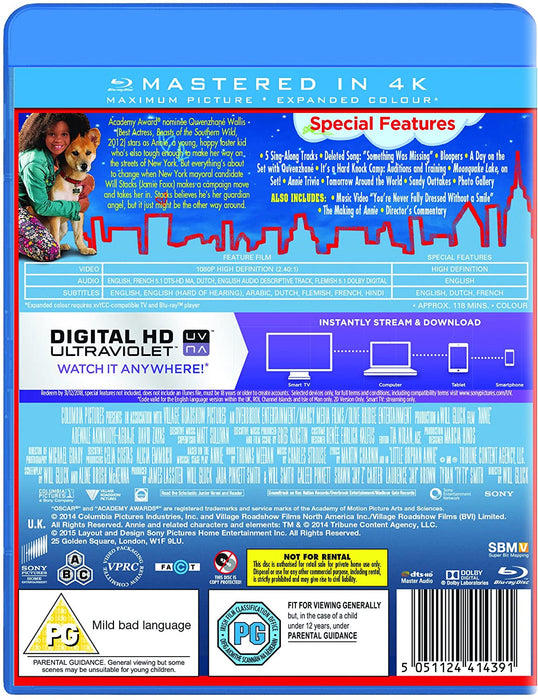ANNIE - BLU-RAY & DIGITAL HD ULTRAVIOLET