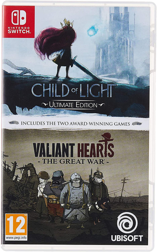 CHILD OF LIGHT ULTIMATE EDITION & VALIANT HEARTS: THE GREAT WAR - NINTENDO SWITCH GAME