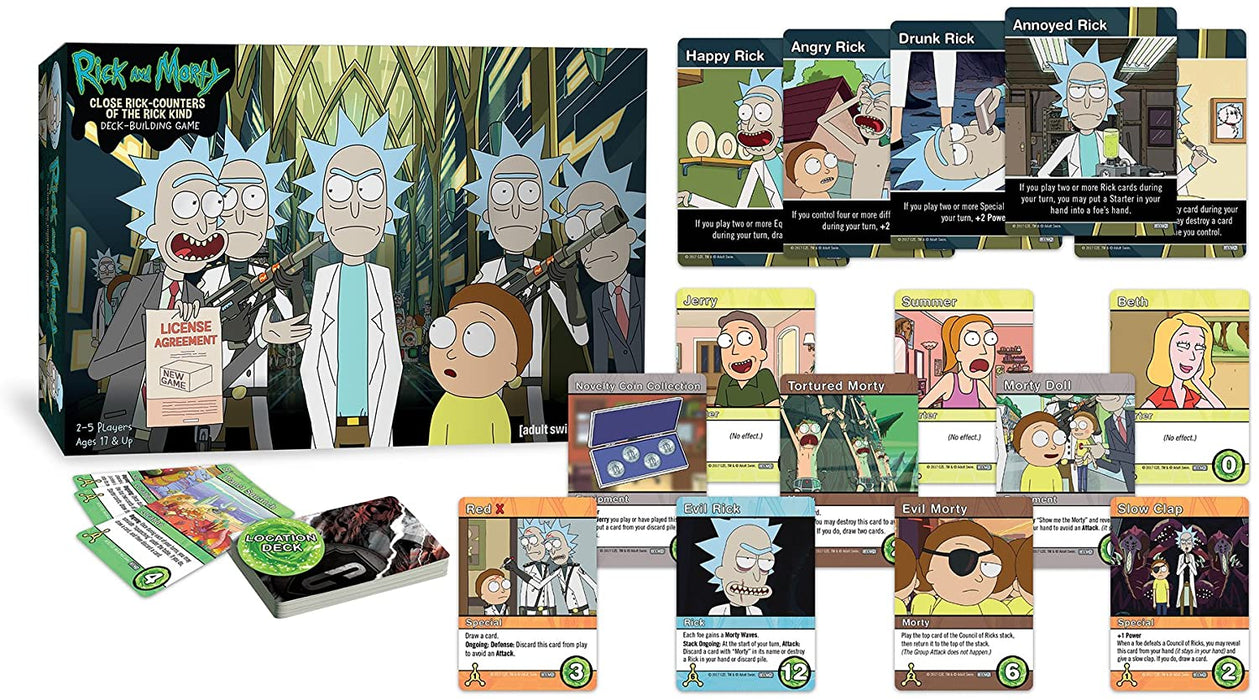 RICK & MORTY: CLOSE ENCOUNTERS OF THE RICK KIND DECK-BUILDING GAME