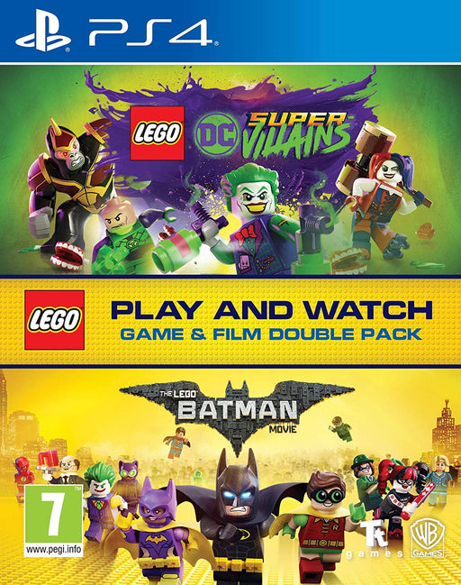 LEGO DC SUPER VILLAINS & LEGO BATMAN BLU-RAY DOUBLE PACK FOR PS4