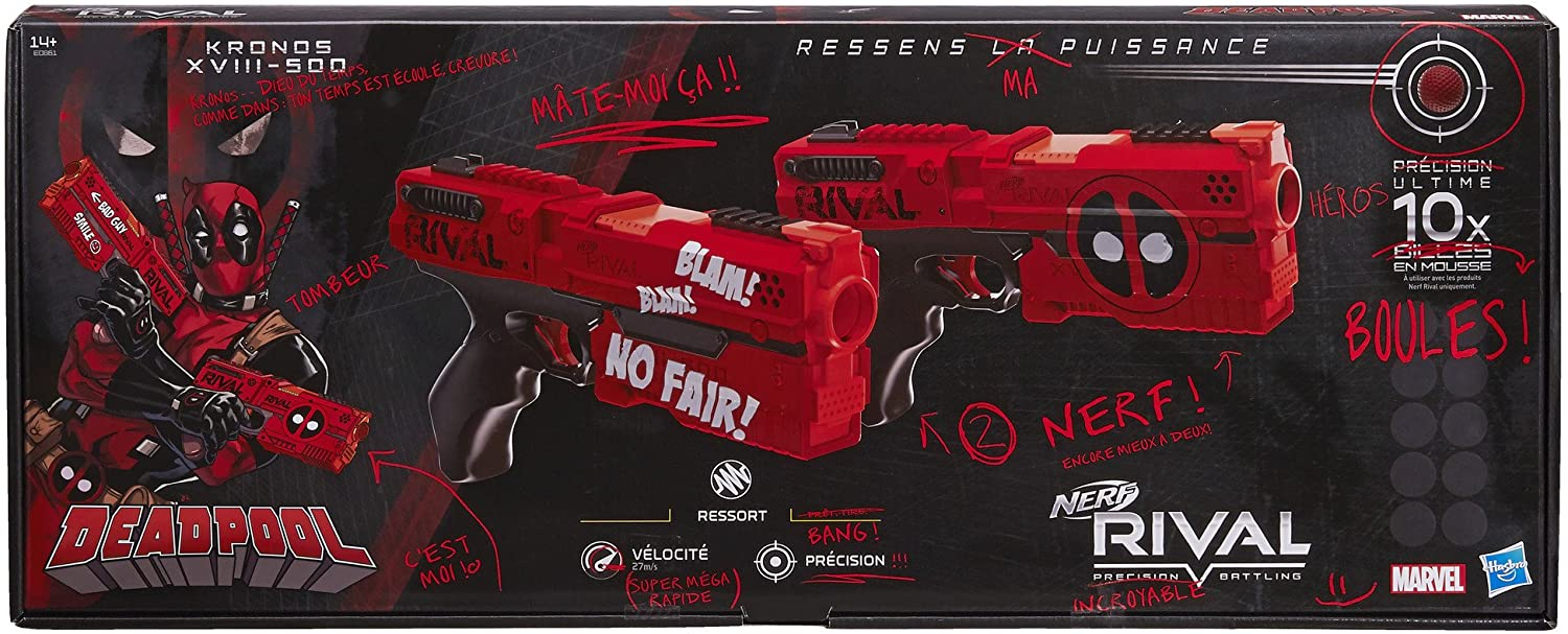 NERF RIVAL PRECISION BATTLING - KRONOS XVIII-500 MARVEL DEADPOOL DUAL GUNS