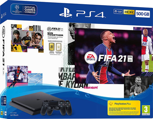 EA SPORTS FIFA 21 500GB PS4 PLAYSTATION 4 SLIM CONSOLE & EXTRA DUALSHOCK