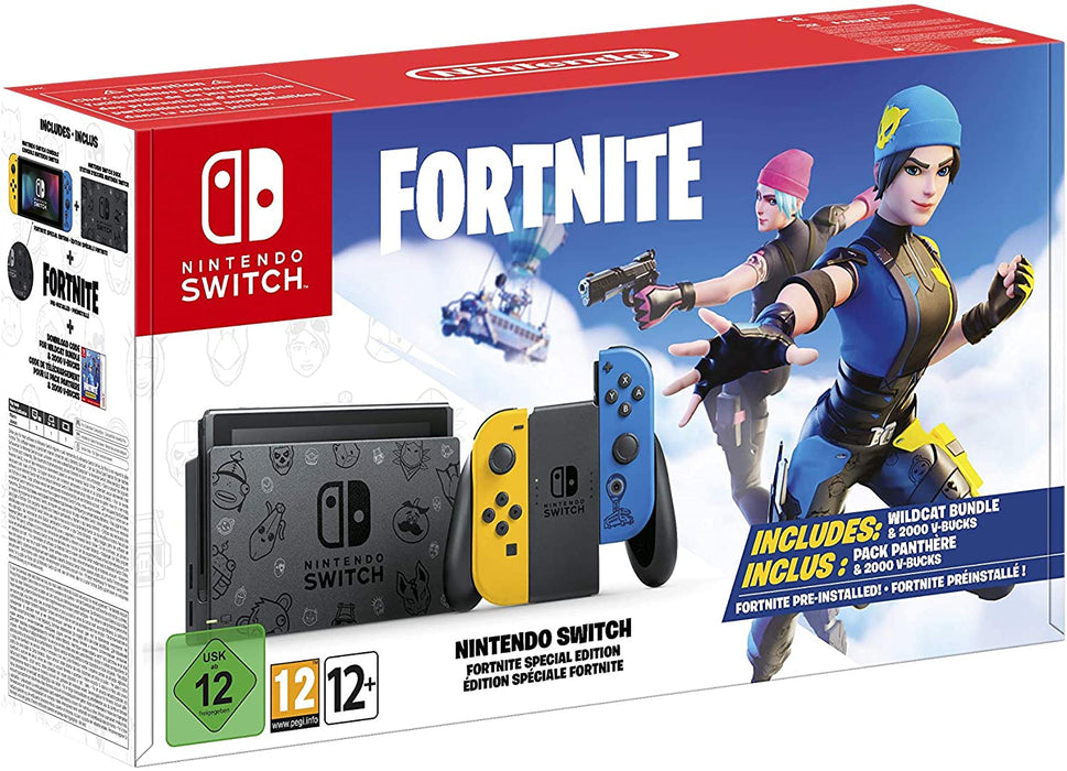 NINTENDO SWITCH CONSOLE - LIMITED EDITION FORTNITE SPECIAL EDITION