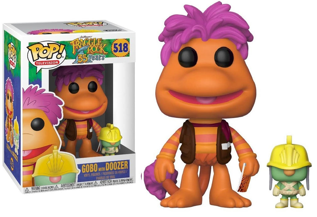 FUNKO POP! TELEVISION: JIM HENSONS FRAGGLE ROCK GOBO WITH DOOZER #518