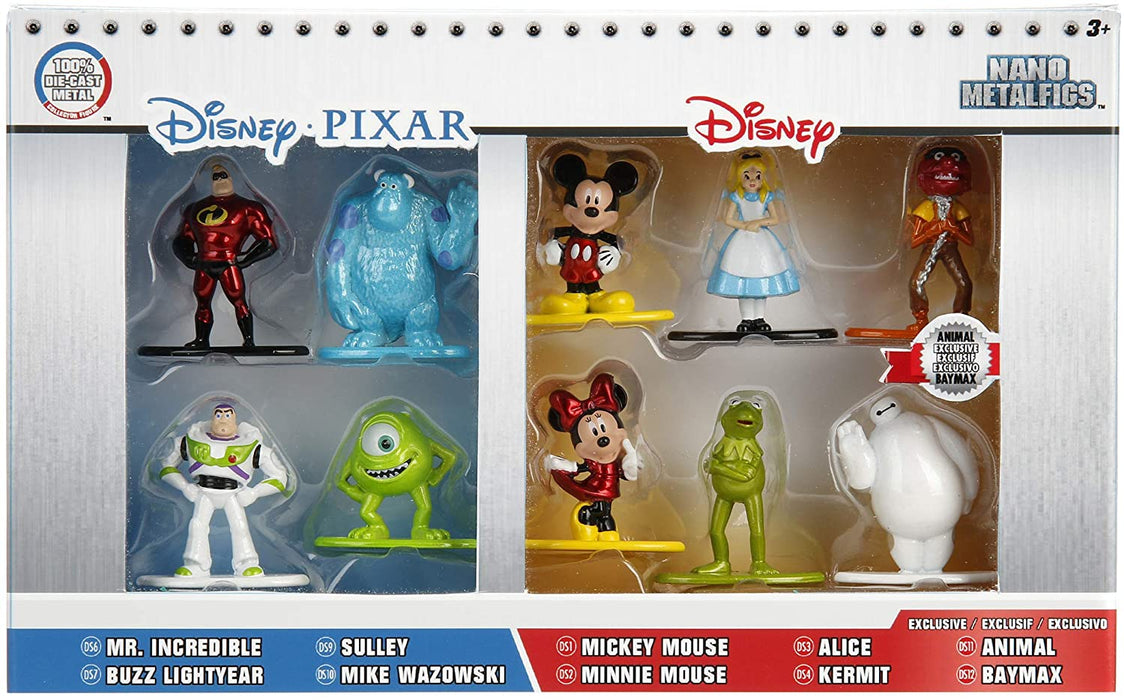 DISNEY PIXAR JADA METALFIGS 10 PACK