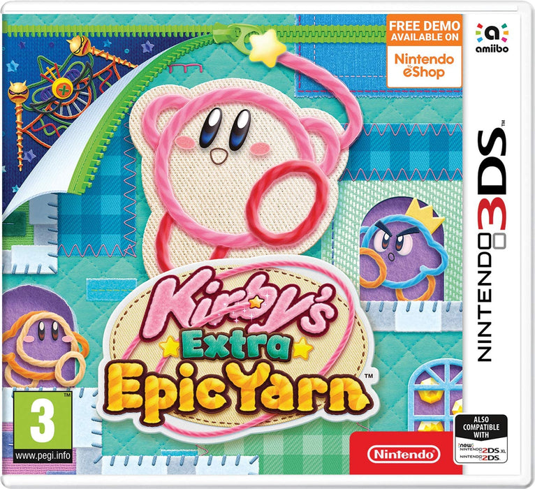 KIRBYS EXTRA EPIC YARN - NINTENDO 3DS GAME