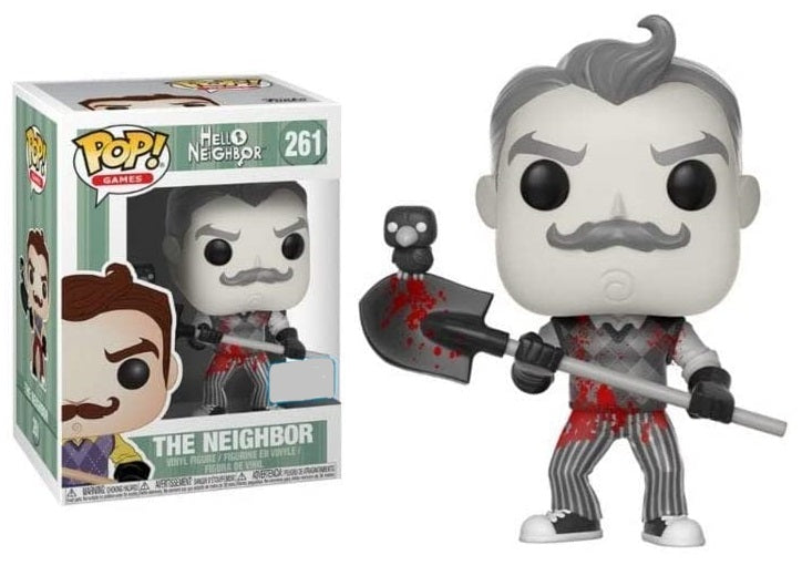 FUNKO POP GAMES: HELLO NEIGHBOUR WITH SHOVEL & BLOOD (B&W) #261