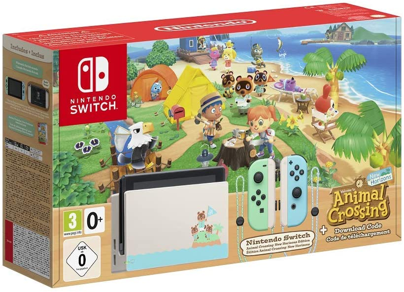 NINTENDO SWITCH CONSOLE - LIMITED EDITION ANIMAL CROSSING NEW HORIZONS EDITION