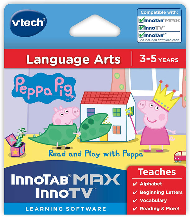 VTECH INNOTAB MAX INNOTV PEPPA PIG LEARNING SOFTWARE LANGUAGE ARTS