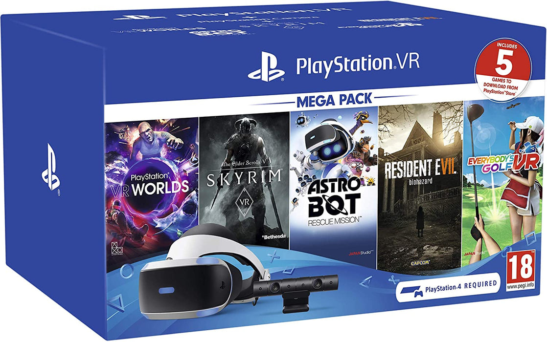 SONY PLAYSTATION 4 PSVR MEGA PACK WITH 5 GAMES