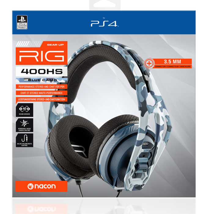 NACON GEAR UP RIG 400HS GAMING HEADSET FOR PS4 - BLUE CAMO