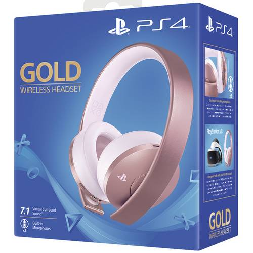 SONY PLAYSTATION 4 GOLD WIRELESS HEADSET - ROSE GOLD