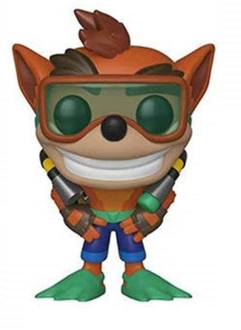 FUNKO POP GAMES: CRASH BANDICOOT WITH SCUBA GEAR #421
