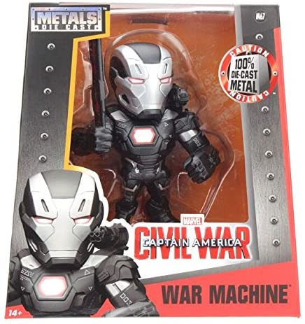 MARVEL CAPTAIN AMERICAN CIVIL WAR WAR MACHINE 6'' JADA METALFIG