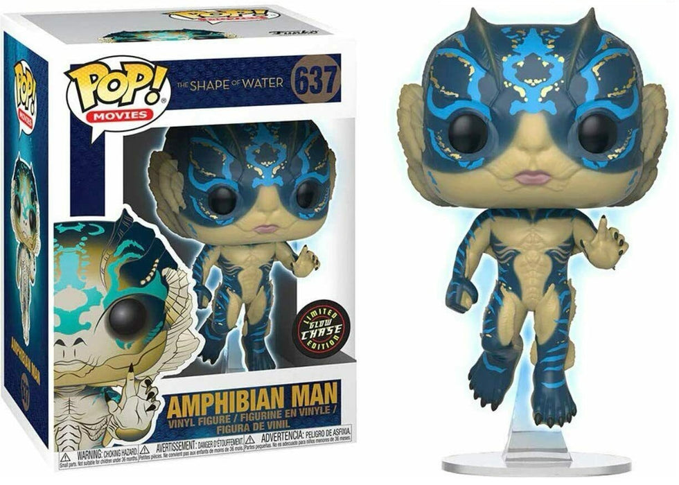 FUNKO POP! MOVIES: THE SHAPE OF WATER AMPHIBIAN MAN LIMITED EDITION GLOW CHASE #637