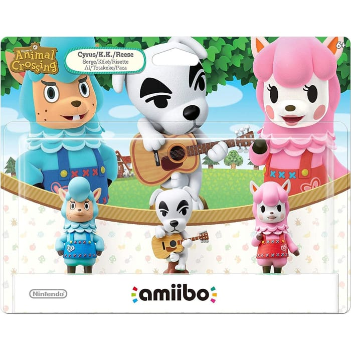 ANIMAL CROSSING AMIIBO FESTIVAL: CYRUS K.K REESE TRIPLE PACK