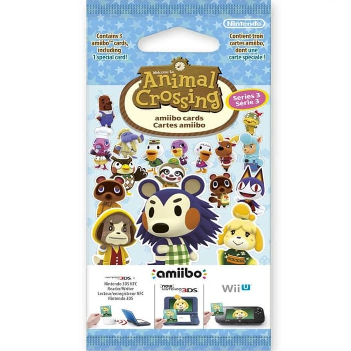 ANIMAL CROSSING: HAPPY HOME DESIGNER CARD PACK - SERIES 3 - NINTENDO 3DS