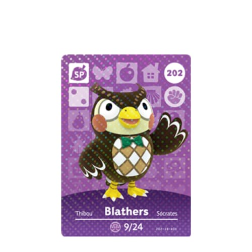 ANIMAL CROSSING: SERIES 3 - AMIIBO CARD - BLATHERS NO.202 - NINTENDO 3DS