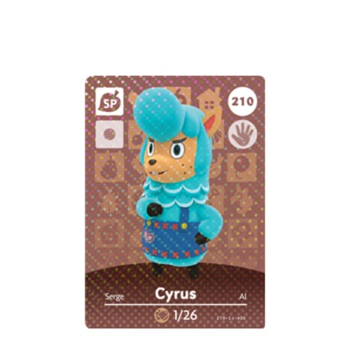ANIMAL CROSSING: SERIES 3 - AMIIBO CARD - CYRUS NO.210 - NINTENDO 3DS
