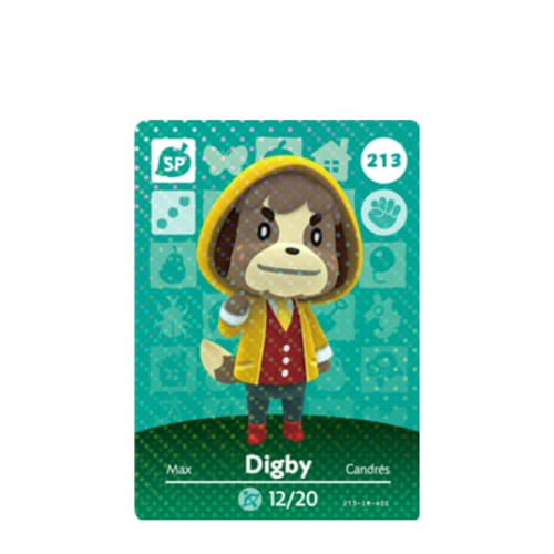 ANIMAL CROSSING: SERIES 3 - AMIIBO CARD - DIGBY NO.213 - NINTENDO 3DS