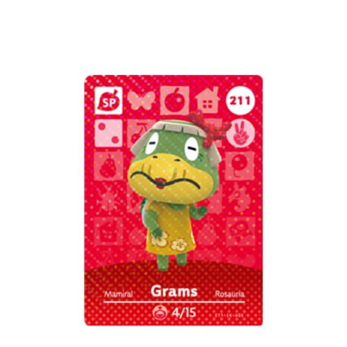 ANIMAL CROSSING: SERIES 3 - AMIIBO CARD - GRAMS NO.211 - NINTENDO 3DS
